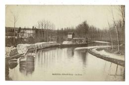 Mareuil Sur Ourcq - La Grue (canal, Barges, Tas De Pavés, Potence De Chargement) Circulé Sabs Date, Sous Enveloppe - Autres Communes