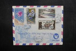 NOUVELLE CALÉDONIE - Enveloppe De Nouméa Pour La France En 1966  , Affranchissement Plaisant  - L 40370 - Briefe U. Dokumente
