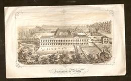 Gravure Ancienne - Institution De MELLE ( Lith Jacqmain Gand - Gent ) - Estampes & Gravures