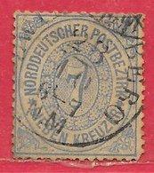 Allemagne Confédération Du Nord N°21 7k Bleu 1869 O - North German Conf.