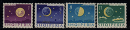 Lune Les Quatres Phases  Timbre ** Albanie - Astrologie