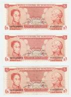 LOT De 7 BILLETS De BANQUE VENEZUELA - 7 BANKNOTES OF VENEZUELA BANK - 7 BILLETES DE BANCO VENEZUELA - Monnaies & Billets