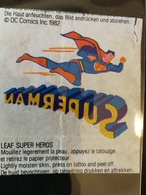 VINTAGE 1982 SUPERMAN LEAF BUBBLE GUM WAX WRAPPER TATTOO - Confectionery & Biscuits
