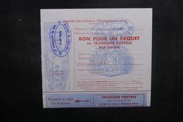 FRANCE - Bon Pour Un Paquet En Franchise Postale Du 1er Bataillon Du SMA - L 40375 - Marcophilie (Lettres)