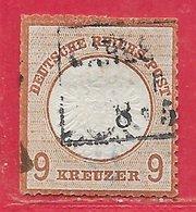 Allemagne N°24 9k Brun-rouge 1872 O - Gebraucht