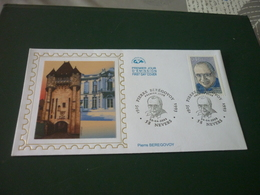 Timbre France P. Beregovoy  Enveloppe Premier Jour First Day Cover - Lettres & Documents