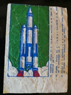 SPACE BUBBLE GUM WAX WRAPPER - About 1970 - TITAN III C - Confectionery & Biscuits
