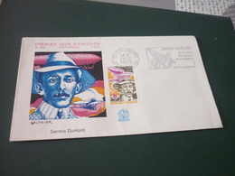 Timbre France  Santos Dumont   Enveloppe Premier Jour F.D.C. Santos Dumont Aviation N°838 - France