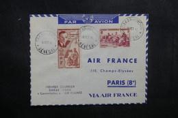 A.O.F. - Enveloppe 1er Vol Par Constellation Dakar / Paris  En 1947, Affranchissement Plaisant - L 40381 - Lettres & Documents