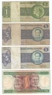 LOT De 9 BILLETS De BANQUE BRESIL - 9 BANQUE BRAZIL TICKETS - 9 BILLETES DE BANQUE BRASIL - Monnaies & Billets