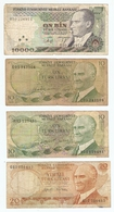LOT De 8 BILLETS De BANQUE TURQUIE - 8 TURKEY BANKNOTES - 8 BILLETES DE TURQUÍA - Monnaies & Billets