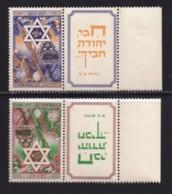 ISRAEL, 1950, Unused Hinged Stamp(s), With Tab, New Year - David Star, SG38-39 Scannr. 17555 - Israël