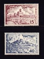 ISRAEL, 1951, Unused Hinged Stamp(s), Withouy Tab, State Israel, SG56-57, Scannr. 17560 - Israël