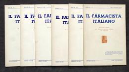 Farmaceutica - Lotto 6 Numeri Bollettino Il Farmacista Italiano - 1943 - Otros