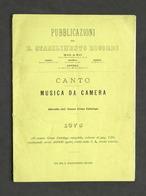 Pubblicazioni Ricordi - Canto - Musica Da Camera - Estratto Dal Catalogo 1875 - Otros