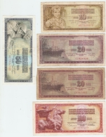 LOT De 5 BILLETS De BANQUE YOUGOSLAVIE - 5 BANKS OF YUGOSLAVIA BANK - 5 BANCOS DEL BANCO DE YUGOSLAVIA - Kiloware - Banknoten
