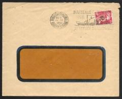 Enveloppe Avec Gandon 15F Perforé S.L-Oblitération Marseille Capucines - France