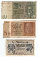 LOT De 3 BILLETS De BANQUE ALLEMAGNE - 3 TICKETS OF BANK GERMANY - 3 BOLETOS DE BANCO ALEMANIA - Kiloware - Banknoten