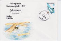 Korea Cover 1988 Seoul Olympic Games - Schwimmen (G96-29) - Summer 1988: Seoul