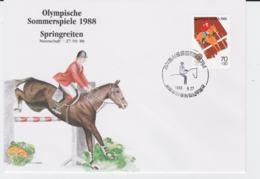 Korea Cover 1988 Seoul Olympic Games - Springreiten (G96-29) - Summer 1988: Seoul