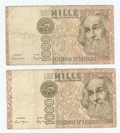 LOT De 2 BILLETS De BANQUE ITALIE - 2 BANKS OF BANK ITALY - 2 BANCOS DE BANCO ITALIA - Kiloware - Banknoten