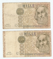 LOT De 2 BILLETS De BANQUE ITALIE - 2 BANKS OF BANK ITALY - 2 BANCOS DE BANCO ITALIA - Munten & Bankbiljetten
