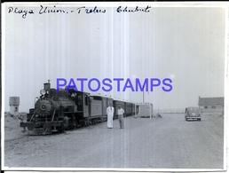 118412 ARGENTINA CHUBUT TRELEW PLAYA UNION STATION TRAIN ESTACION DE TREN 11.5 X 8.5 CM PHOTO NO POSTAL POSTCARD - Fotografía