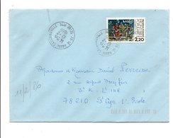 OBLITERATION DE LE HAVRE CAUCRIAUVILLE 1986 - Marcophilie (Lettres)