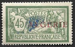 ALGERIE 1924-25  - YT 21 - Merson 45c - Oblitéré - Neufs