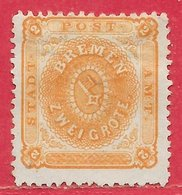 Brême N°10 2g Orange 1866-67 (*) - Bremen