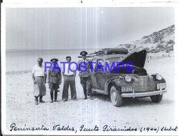 118418 ARGENTINA CHUBUT PUNTA PIRAMIDES AUTOMOBILE CAR AUTO AND MILITARY 1944 12 X 9 CM PHOTO NO POSTAL POSTCARD - Fotografie