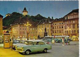 AK 0305  Graz - Hauptplatz ( Busse , Opel ) Um 1968 - Bus & Autocars