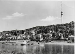 """AK 0305  Dresden-Wachwitz - Fernsehturm Mit MS """" Friedrich Engels """" / Ostalgie , DDR Um 1972 - Dresden"""