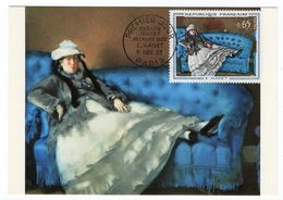 Carte Maximum 1962 - Manet : Madame Manet Au Canapé Bleu - YT 1364 - Paris - Cartes-Maximum