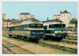 FRANCIA   USSEL CEDEX  A  TROYES     TRAIN- ZUG- TREIN- TRENI-GARE- BAHNHOF- STATION- STAZIONI  2 SCAN  (NUOVA) - Treni