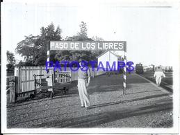 118419 ARGENTINA CORRIENTES PASO DE LOS LIBRES STATION TRAIN ESTACION DE TREN ANDEN 12 X 9 CM PHOTO NO POSTCARD - Fotografie