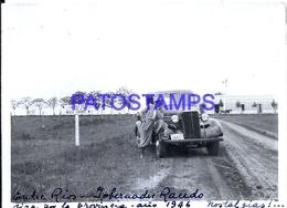 118420 ARGENTINA ENTRE RIOS GOBERNADOR ROCEDO AUTOMOBILE CAR AUTO 1946 11.5 X 8 CM PHOTO NO POSTAL POSTCARD - Fotografie