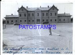 118422 ARGENTINA SANTA CRUZ PUERTO DESEADO STATION TRAIN ESTACION DE TREN AÑO 1949 12 X 9 CM PHOTO NO POSTAL POSTCARD - Fotografie