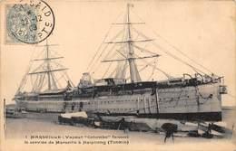 BÂTEAU-VAPEUR COLOMBO- MARSEILLES FAISANT LE SERVICE DE MARSEILLE A HAIPHONG ( TONKIN ) - Barche
