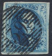 """Médaillon - 20ctm Bleu Bien Margé Obl P39 """"Fleurus"""". à Examiner TB - 1849-1865 Medaillen (Sonstige)"""