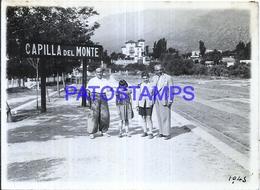118428 ARGENTINA CORDOBA CAPILLA DEL MONTE STATION TRAIN ESTACION DE TREN ANDEN 12 X 9 CM PHOTO NO POSTAL POSTCARD - Fotografie