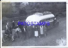 118430 ARGENTINA SAN JUAN VALLECITO 1º AUTOBUS BUS AND HORSE PEOPLE 13 X 9 CM PHOTO NO POSTAL POSTCARD - Fotografie