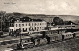 Nidda, Bahnhof Mit Einfahrenden Zügen, 1913 Nach Seifhennersdorf Versandt - Wetterau - Kreis