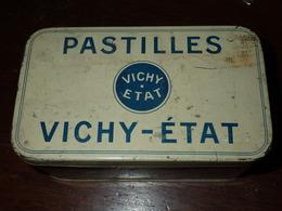 Boite En Tôle De Gélules Vichy - 14x8x7cm - Scatole