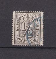 Hamburg - 1864 - Michel Nr. 10 - Zweikreisstempel Blau - Hamburg