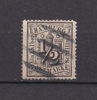 Hamburg - 1864 - Michel Nr. 10 - Dicker Vierstrichstempel - Hamburg