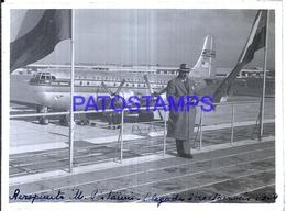 118433 ARGENTINA BUENOS AIRES AIRPORT AEROPUERTO PISTARINI AVIATION AÑO 1952 12 X 9 PHOTO NO POSTCARD - Fotografie