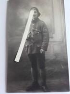 1917 Chasseur à Pieds 1 Er Bataillon Ordonnance Lt Boy Croix Guerre Canon 37 Mm Tranchée Poilu 1914 1918 WW1 14/18 1WK - Guerra, Militari