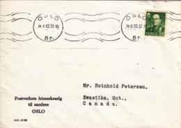 Norway 1962 Cover To Canada Oslo 14 11 62 Single Franking - Noorwegen