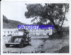 118435 ARGENTINA SALTA TERMAS ROSARIO DE LA FRONTERA AUTOMOBILE CAR AND MAN 1942 11.5 X 9 CM PHOTO NO POSTAL POSTCARD - Fotografie